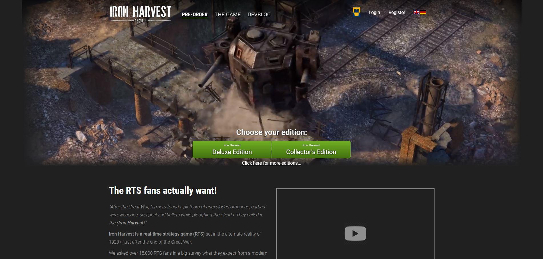 《 Iron Harvest 》面白そうな RTS ゲーム